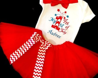 Baby Girl Fourth of July Outfit, Baby Girl First Fourth of July Outfit, Baby Girl 1st 4th of July Outfit, Baby Girl 4th of July Outfit