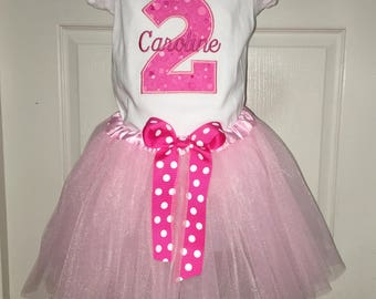 Choose Age! Girl 2nd Birthday Outfit, Toddler Girl Birthday Outfit, Baby Girl Birthday Outfit, Girl 3rd Birthday Outfit