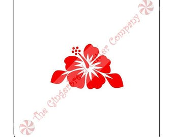 pochoir hibiscus | etsy
