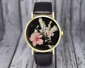Hibiscus Flower Watch | Floral Watch | Women's Watch | Ladies Watch | Gift for Her | Birthday | Wedding | Gift Ideas | Fashion Accessories