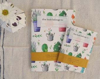 Handmade notebook Spring pattern