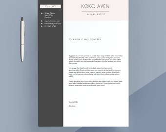 Modern Cover Letter Template, Cover Letter, Letterhead, Word Template,  Simple Cover Letter  Templates For Cover Letters
