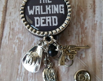 Zombie Walking Dead - Retractable Badge Reel - See Pictures for Options!  Only Pay Shipping on 1st Item for US Customers