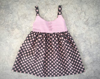Polka dot dress for 18 month / 2 year old girl