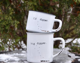 Big dipper little dipper constellation stars ursa major ursa minor astronomy night sky north star sorority zodiac constellation art mug set