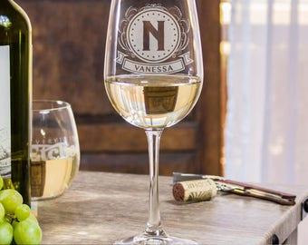 21st Birthday Wine Glass, Stem Wine Glass, Wedding Glass, Monogram Wedding, Gift For Her, Etched Wine Glass, Bridal Wine Glass, Gift Idea