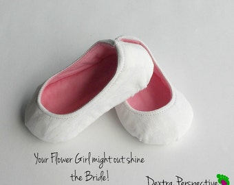 Flower Girl Shoes - Wedding Shoes for Kids with Leather or Rubber Sole
