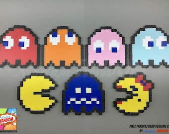 PacMan Magnets or Ornaments - PacMan Ornaments, Fridge Magnets,  Geek Home Decor, Video Game Decor