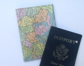 Passport holder: Vintage US Map