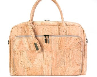 Cork Briefcase -  Vegan Eco-Friendly Mothers Day Gift Idea - FREE SHIPPING WORLDWIDE - Bag in cork