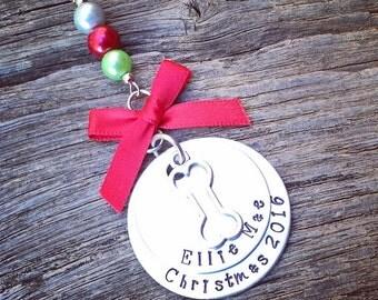 Dog Christmas Ornament | Dog's First Christmas Ornament | Personalized Dog Ornament | Customized Dog Ornament | Handmade Gift For Dog Lover