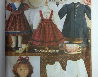 "Vintage 18 "" Doll Heirloom Clothes Pattern Vogue 7099 uncut by Teresa Layman"