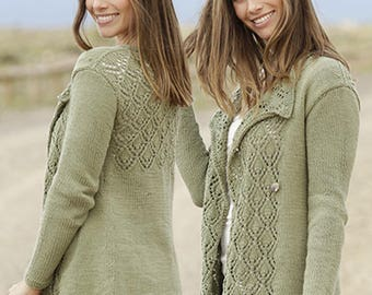 Hand Knitted Jacket  in cotton / Made to order