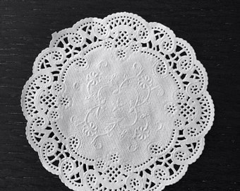 """100 ct. 4"""" French Lace Doily Wedding Party Craft Paper Doilies"""