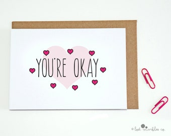 Funny Anniversary Card ∙ Valentine Card ∙ Love Card ∙ Just Because ∙ I Love You Card ∙ Heart Card ∙ Romantic Card ∙ You're Okay