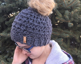 Messy Bun Hats - Pony Tail Hat - Ponytail Beanie - Messy Mom Bun Hat - Messy Bun Beanie - Messy Pony Beanie - Viral Bun Hat