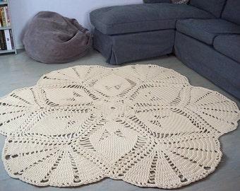 CROCHET rug PATTERN , Life is a Flower, PDF pattern, crochet pattern, crochet rug tutorial, patterns, doily pattern, big scale rug pattern