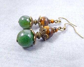 Agate earrings, Bohemian jewelry, statement jewelry, Bohemian earrings, Boho jewelry, birthstone jewelry, inspiration statement earrings