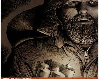 John Carpenter's THE THING - R. J. MacReady movie poster full colour art print (Kurt Russell)