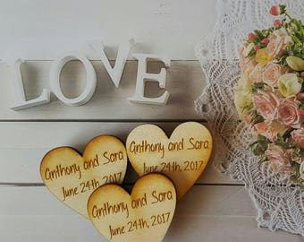 Wedding Favor, Heart Magnets - Qty 50