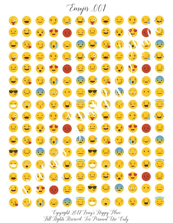 Blank Calendar Emoji : Emoji stickers instant download printable