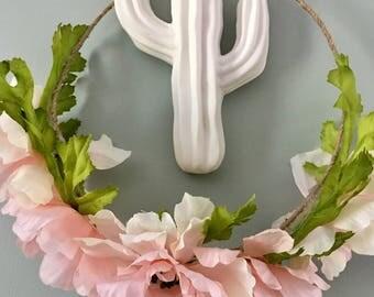 Pink Flower Crown, festival flower crown, pastel flower crown, adult flower crown