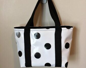 Scripture Bag - Oilcloth Polka Dot