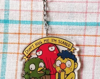 Don't hug me i'm scared  [transparent acrylic keychain (6cm)]
