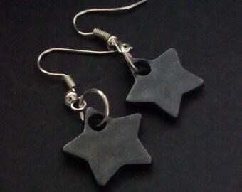 Black Star punk emo goth rock chick Earrings