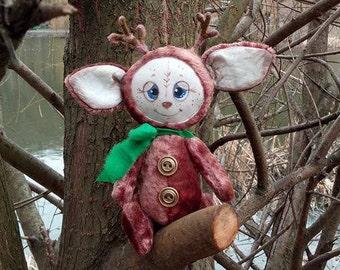Faunneous Faun,The deer,The plush deer,Plush toy,A nice gift,Teddy deer,Faun Teddy,Unusual deer,Teddy toy,20 cm,OOAK