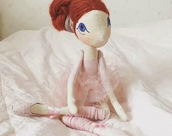 Rag doll , Handmade rag doll , Rag Ballerina doll , Handmade ballerina doll , Oganic doll , Organic rag doll , Organic doll , Natural doll
