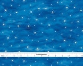 Blue Starry Sky Fabric, Windham Quiet Bunny & Night Song 71639, Blue Sky Quilt Fabric, Star Quilt Fabric, Baby and Children's Fabric, Cotton