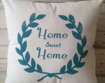 Home Sweet Home Decorative Pillow, Farmhouse Pillow, Pillow Cover, Throw Pillow
