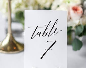 4x6 Wedding Table Numbers, Wedding Table Decor, Wedding Table Numbers Printable, Table Numbers Wedding, INSTANT DOWNLOAD, KKD_102
