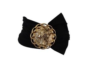 1980s bandeau  gold metal buckle BELT