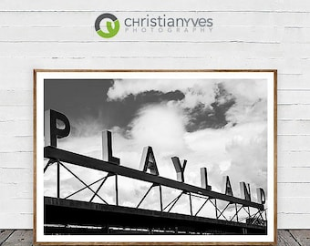"Architecture Photography, ""Playland"" Large Wall Art Vancouver Prints, Fine Art Home Decor"