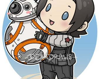Bucky and BB8 (PRINT)