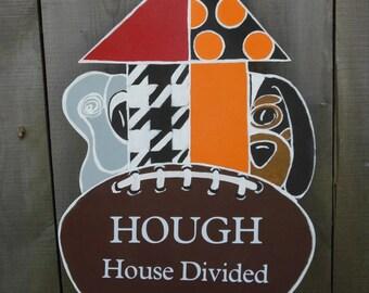 Tennessee Volunteers - Roll Tide -  House Divided door hanger - Alabama - Tennessee door hanger
