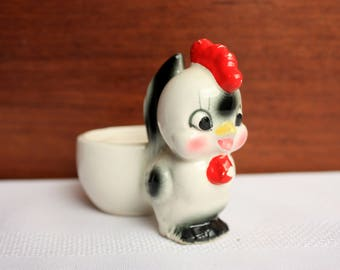 Vintage Egg Cup of Little Rooster , Rooster Egg Cup,