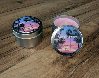 Hawaiian Dream Candle, Flower Candle, Floral Candle, Gift for Dad, Gift for Husband, Gift for Father, Gift for Her, Gift for Wife
