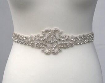 Luxury crystal bridal sashwedding dress sash belt for How to ship a wedding dress usps