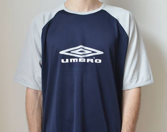 UMBRO TEE -navy, tshirt, sportswear, adidas, nike, kappa, 90s, aesthetic, cyber, club kid, vaporwave, y2k, sad boys-
