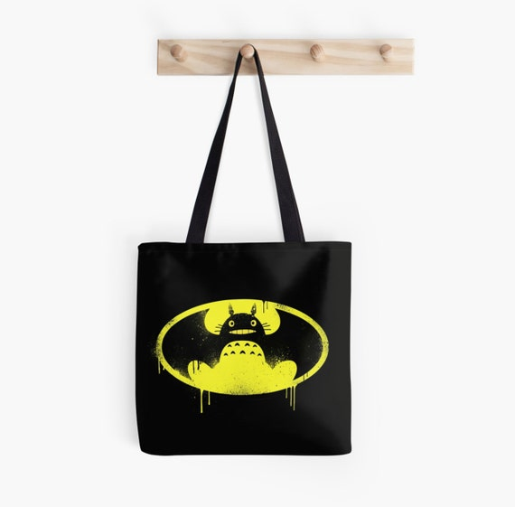 My Neighbour Totoro / Batman - Mash Up Tote Bag
