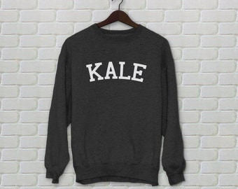 KALE Sweatshirt Sweater Shirt Top Black Unisex Size S M L