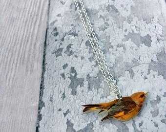 Greenfinch Necklace, Bird Jewellery,Bird Jewelry, Garden Bird, Bird Lover Gift, British Bird