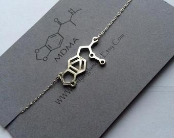 MDMA Necklace, MDMA Molecule Necklace, Molecule Necklace, Science Jewellery, Science Jewelry,Valentines Gift