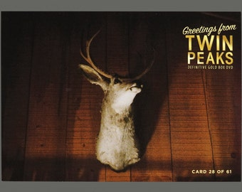 Twin Peaks Gold Box Postcard Card # 28 of 61 Deer Head Trophy