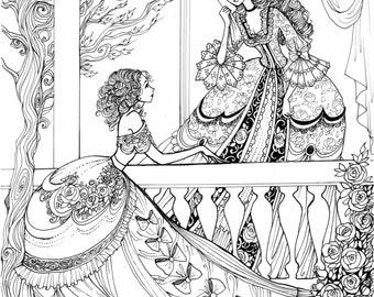 Princesses - Original Ink drawing