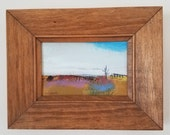 Vintage wood frame with original recent painting