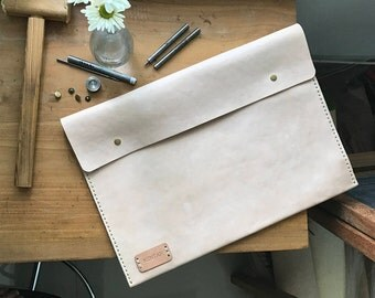 Personalized Laptop Case, Laptop Sleeve, Vegetable Tanned Leather, Macbook 11' 12' 13.3' 15'